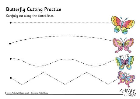 Butterfly Cutting Practice …