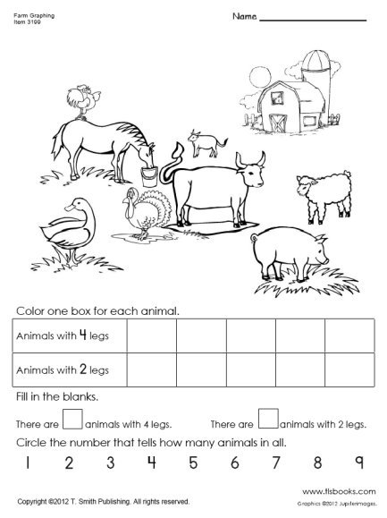 Captivating Worksheets For Grade 1 On Animals With Additional Farm