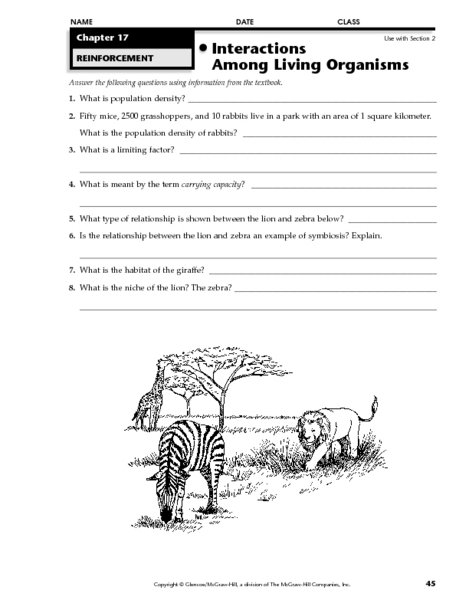Carrying Capacity Worksheet Worksheets For All