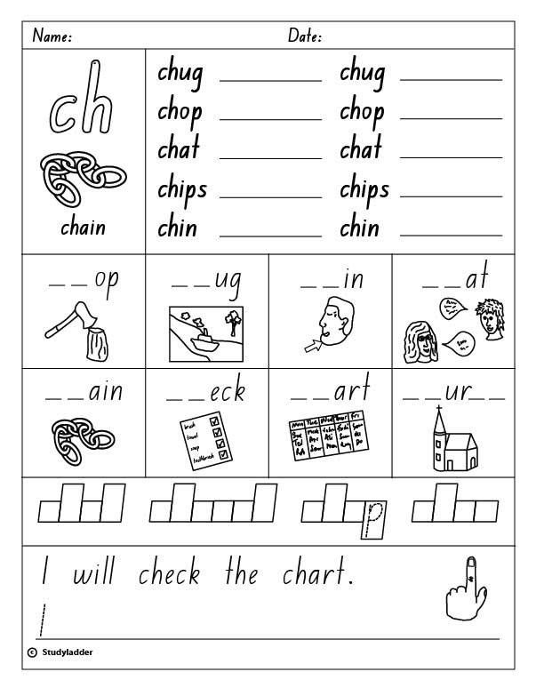 Ch Worksheets Consonant Digraph Ch Beginning Sound English Skills