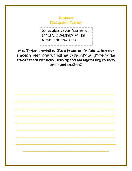 Character Education Worksheets Middle School Worksheets For All