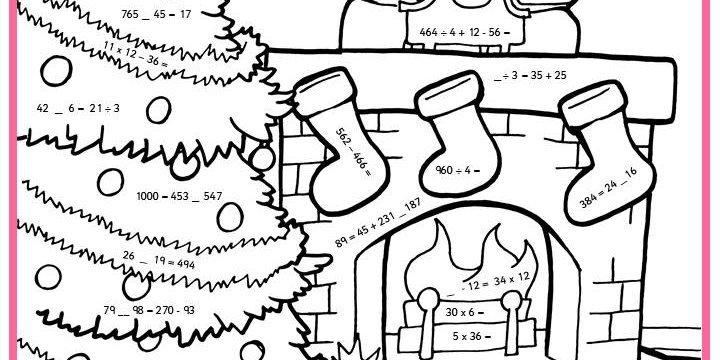 Christmas Maths Worksheet Worksheets For All