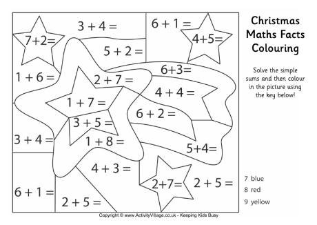 Christmas Maths Worksheets For Year 1