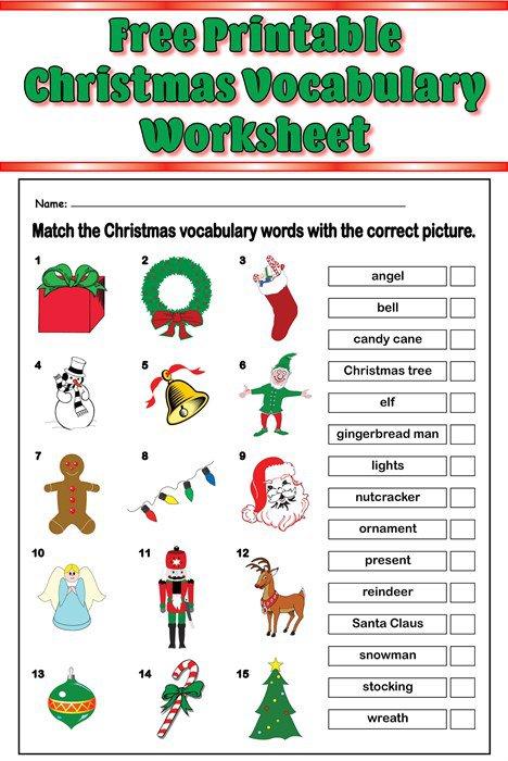 Christmas Vocabulary Worksheets Chomikuj