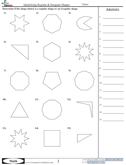 Classifying Polygons Worksheet Worksheets For All