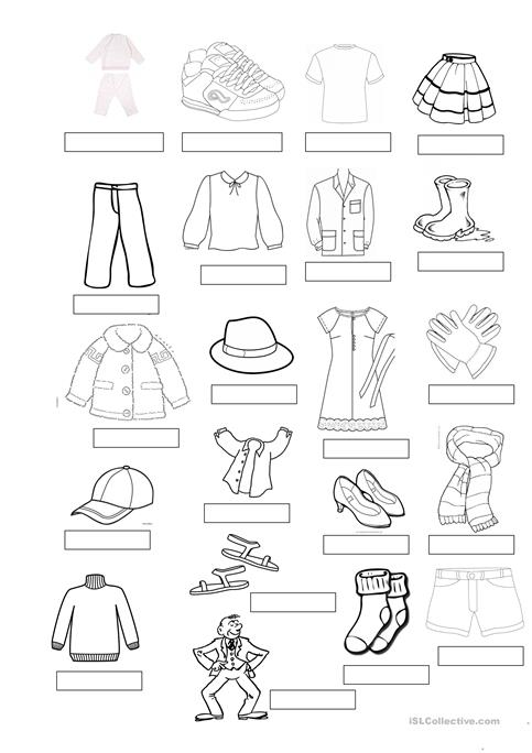 Clothes Vocabulary Worksheet