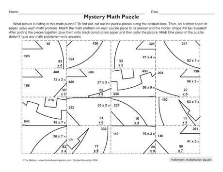 Collection Of Solutions Multiplication Puzzle Worksheets On Resume