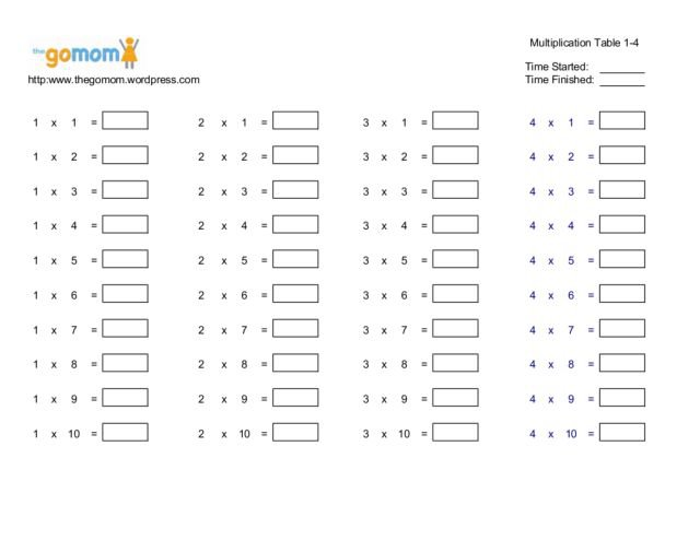 Collection Of Solutions Multiplication Table Worksheets 4th Grade