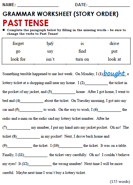 Collection Of Solutions Present And Past Tense Worksheets Pdf On