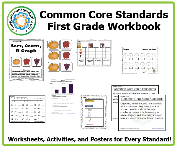 Common Core Math Worksheets First Grade Common Core Workbook
