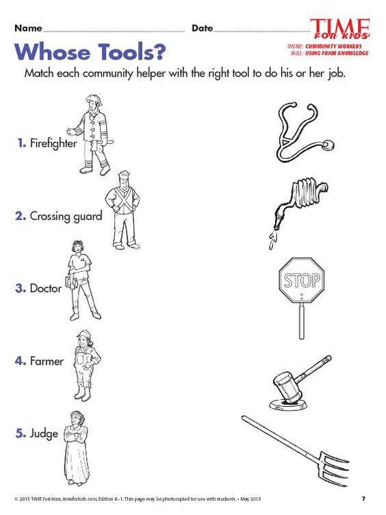 Community Helper Worksheets Worksheets For All
