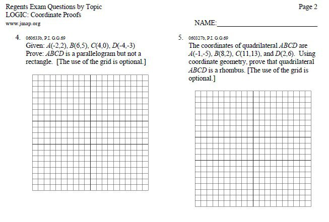 Coordinate Geometry Worksheet Answers Worksheets For All