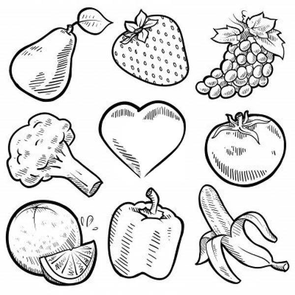 Cornucopia Fruit Coloring Pages