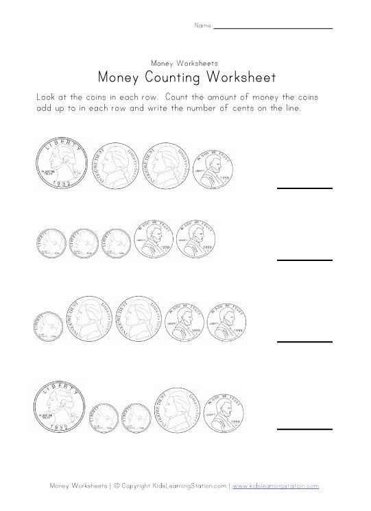Counting And Coloring Money Worksheets