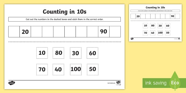 Counting In 10s Primary Resources