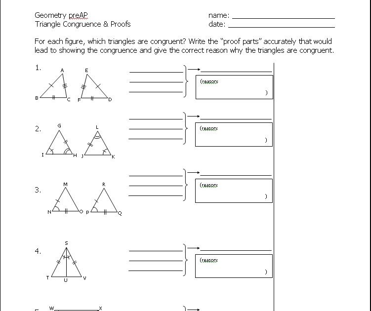Cpctc Proofs Worksheet Worksheets For All