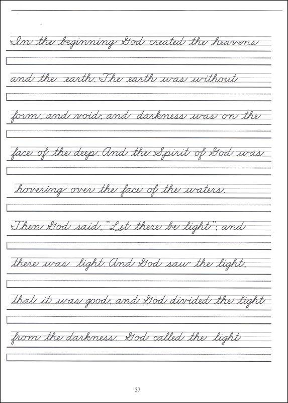 Cursive Handwriting Worksheet On Handwriting Sentences