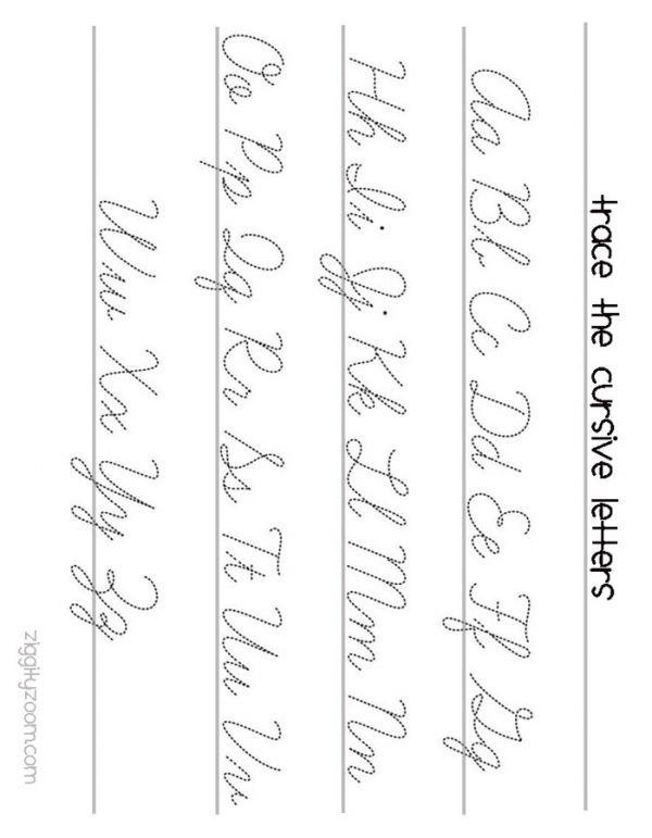 Cursive Writing Worksheets To Print