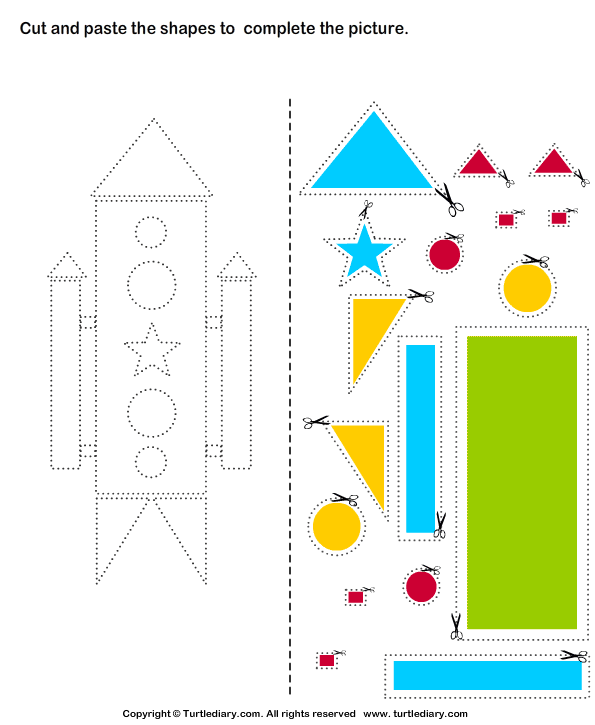 Cut And Paste Worksheets For Kids