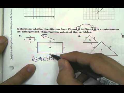 Dilations Worksheet With Answers 67 Dilation Homework Help Youtube