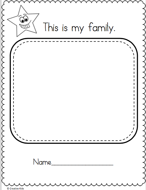 Draw My Family Worksheet