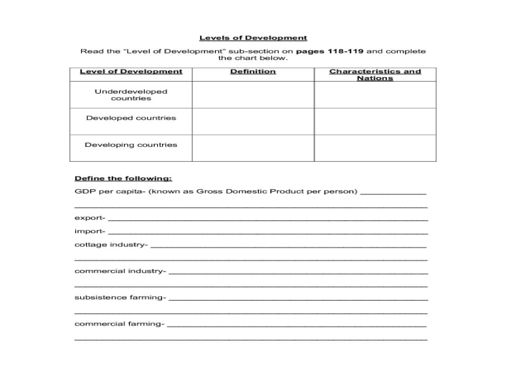 Economics Worksheets For High School  Economics  Best Free