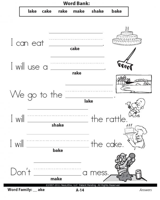 Ela Worksheets For 1st Grade Worksheets For All