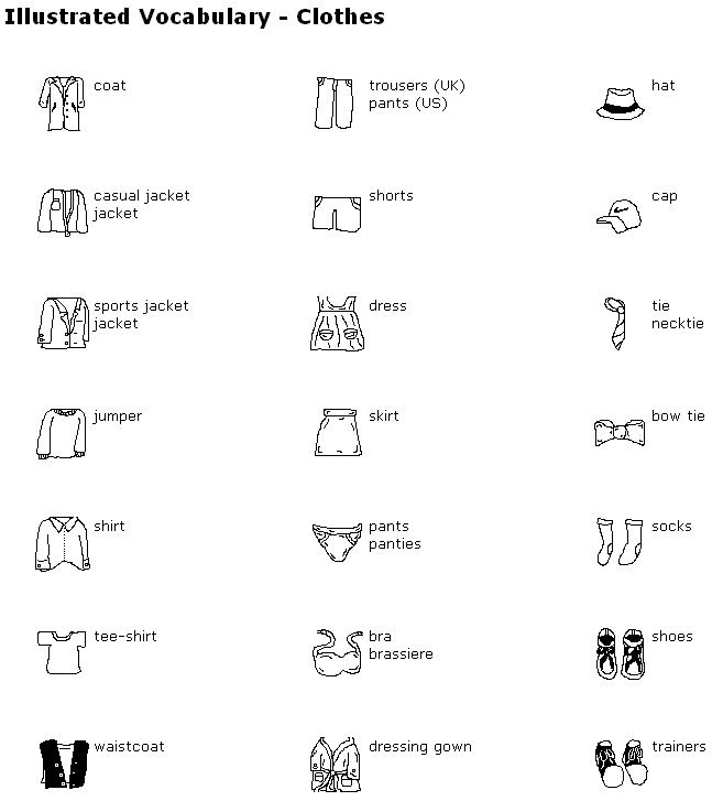 Enchanting Worksheets Vocabulary Clothes With Additional