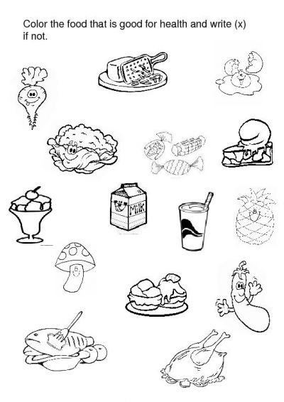 Endearing Preschool Worksheets About Food With Crafts Actvities