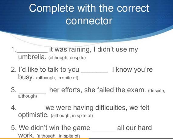 English Teacher  Connectors