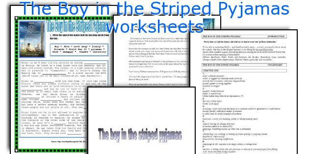 English Teaching Worksheets  The Boy In The Striped Pyjamas