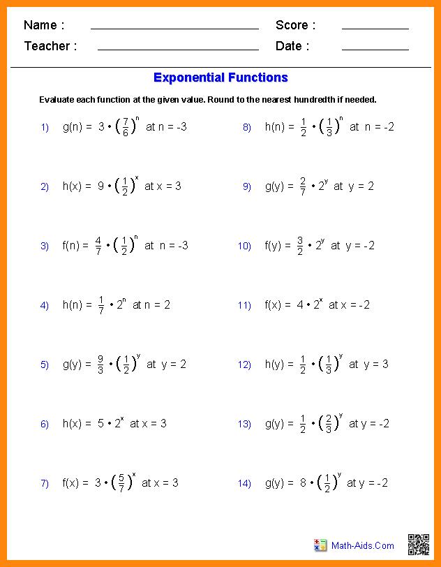 Evaluating Functions Worksheet Worksheets For All