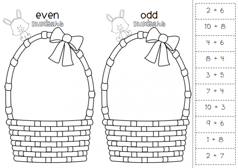Even And Odd Numbers Worksheets Easter – Printable Shelter
