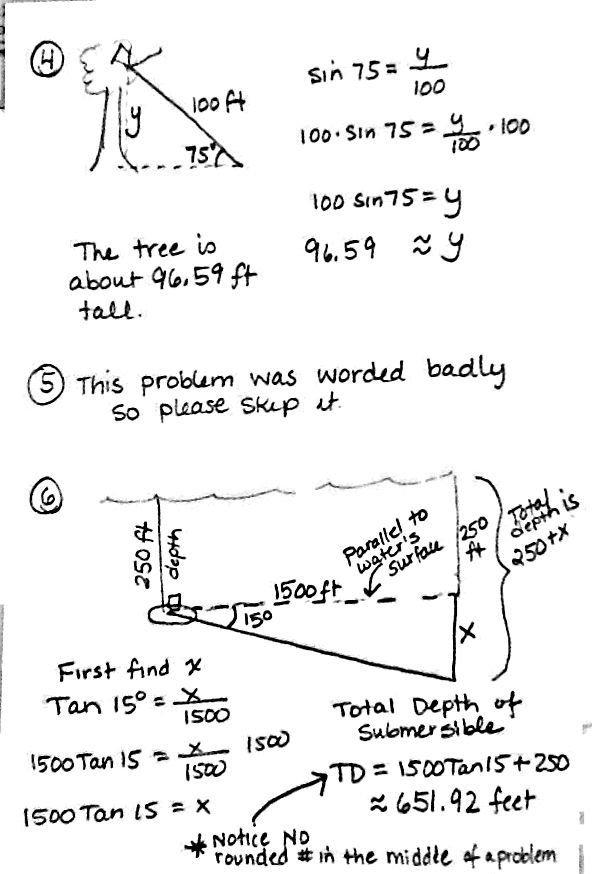 Famous Math Worksheets Trigonometry Photos