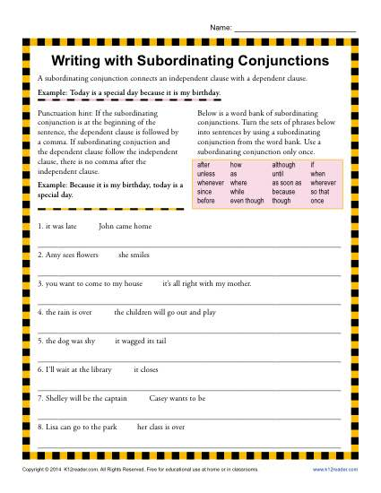 Fanboys Conjunctions Worksheet Worksheets For All