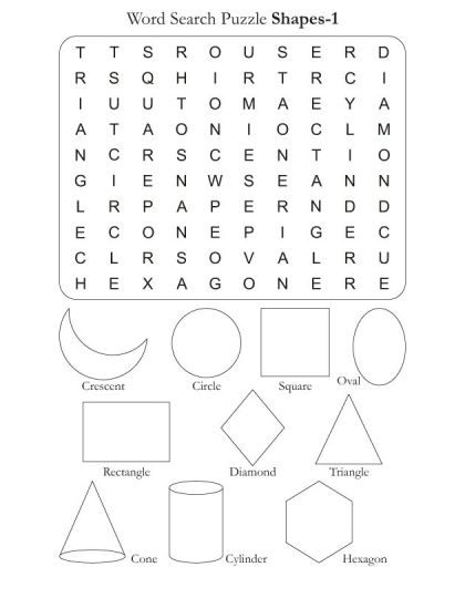 Find The Words In The Shapes 1 Wordsearch Puzzle  Select Your