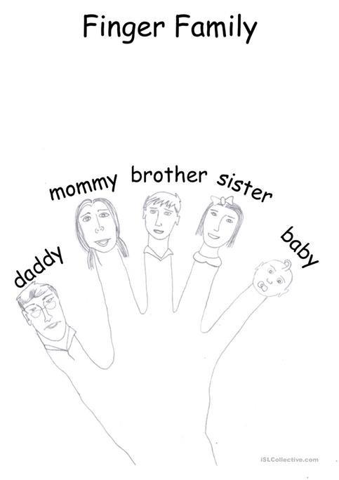 Finger Family Worksheet