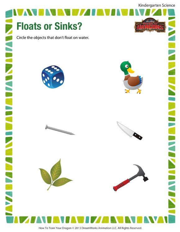 Floats Or Sinks – Free Kindergarten Science Worksheets And Printables