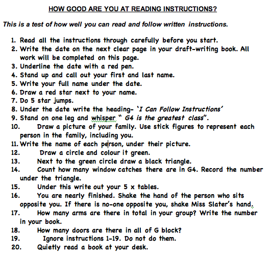 Following Directions Worksheet Trick Worksheets For All Download