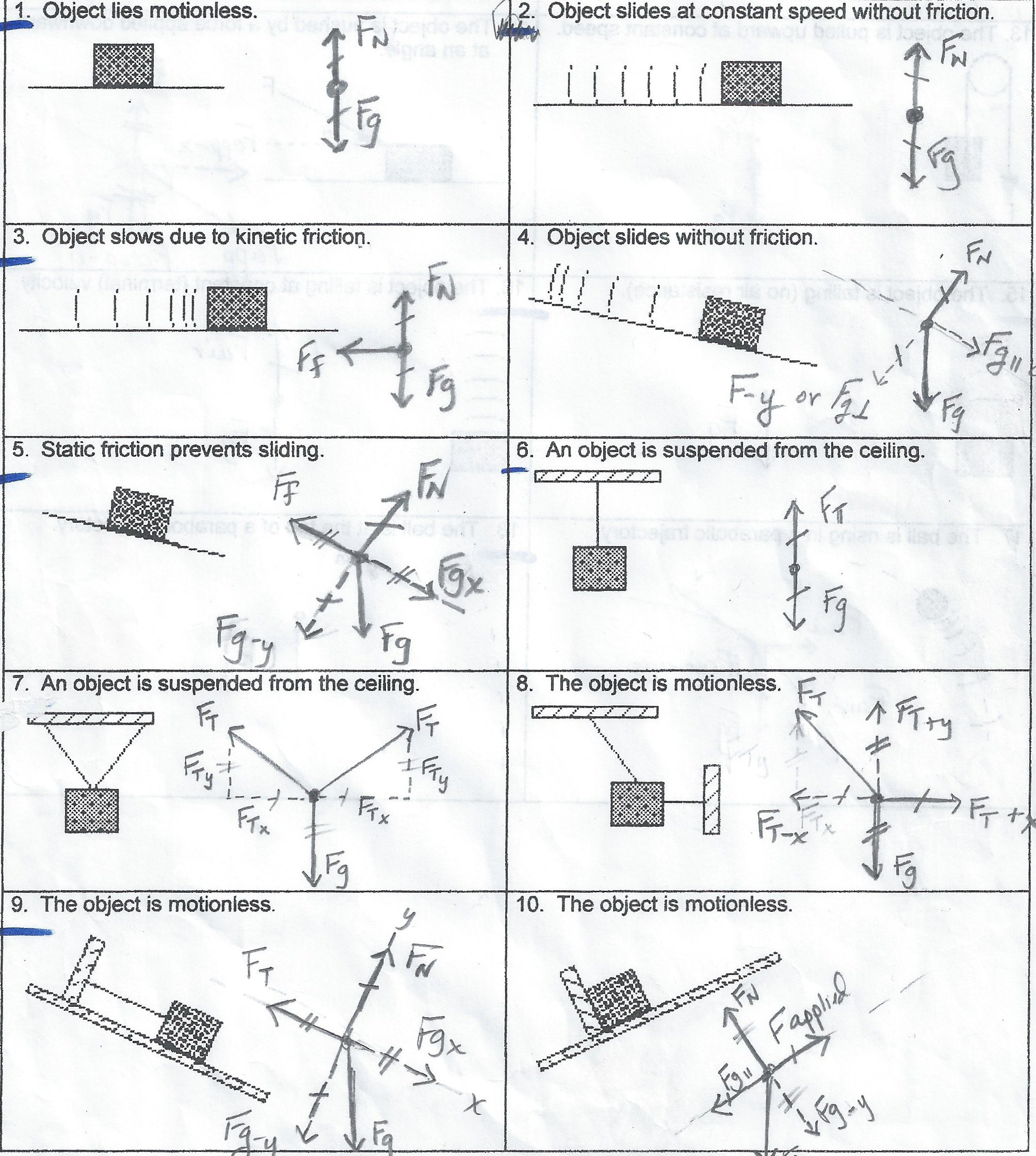 Force Diagrams Worksheet Physical Science  Force  Best Free