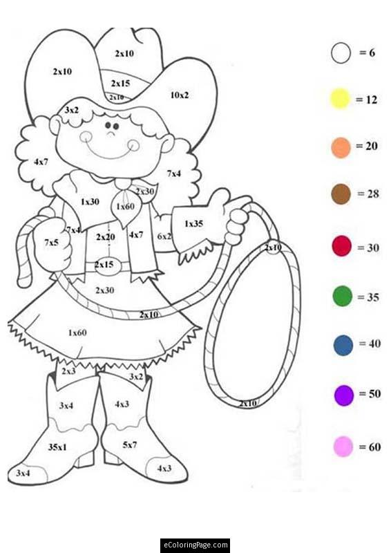 Free Color By Number Math Worksheets Worksheets For All