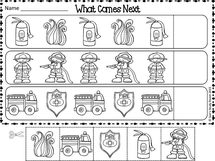 Free} Fire Safety Patterns Worksheets
