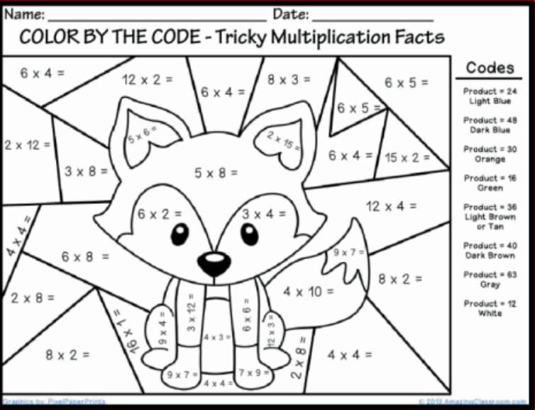 Free Fun Multiplication Worksheets Free Printable Coloring