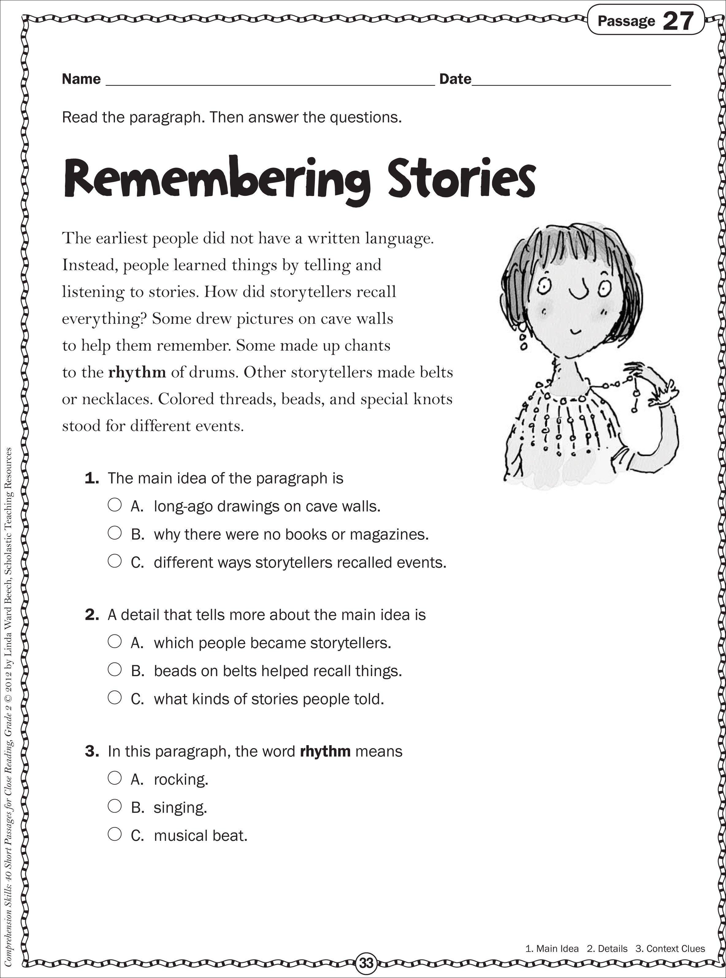 Free Grade 2 Reading Comprehension Worksheets The Best Worksheets