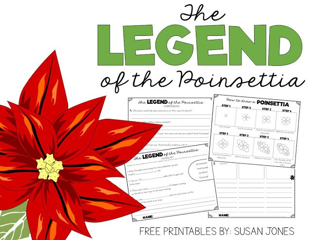 Free Legend Of The Poinsettia Activities!