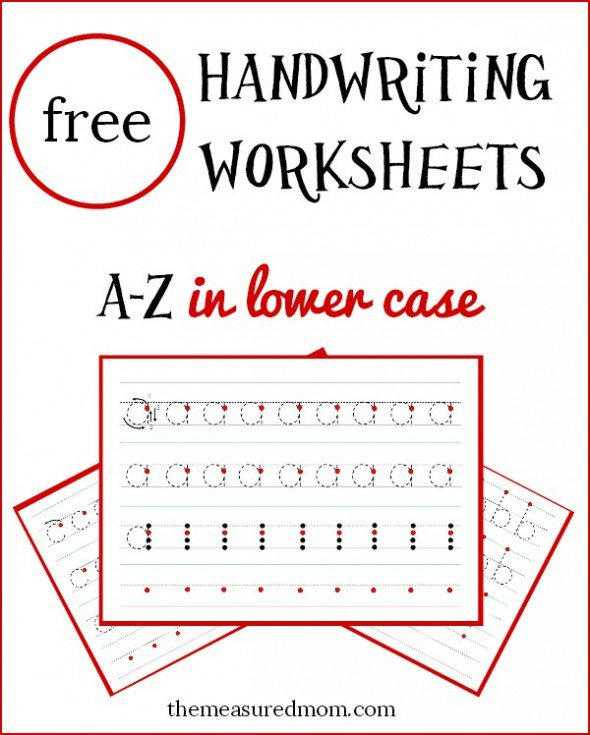 Free Lowercase Handwriting Worksheets On Four Lines!
