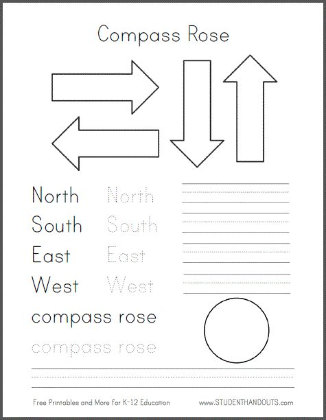 Free Map Skills Worksheets For First Grade