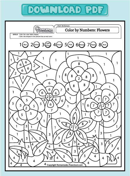 Free Math Worksheets Color By Number