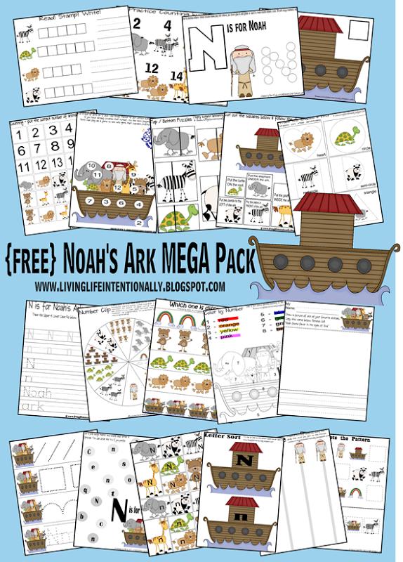 Free Noah's Ark Worksheets For Kids