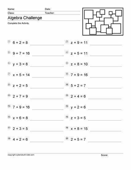 Free Pre Algebra Worksheets For 6th Grade